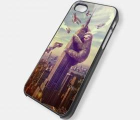 SLOTH SLOZILLA - iPhone 4 Case, iPhone 4s Case and iPhone 5 case Hard Plastic Case MSH